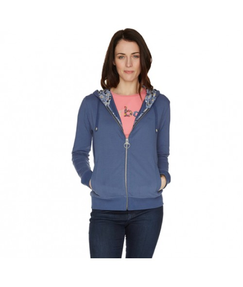 Barbour Bonita Hoodie- Petrol Blue/Kissing Gate