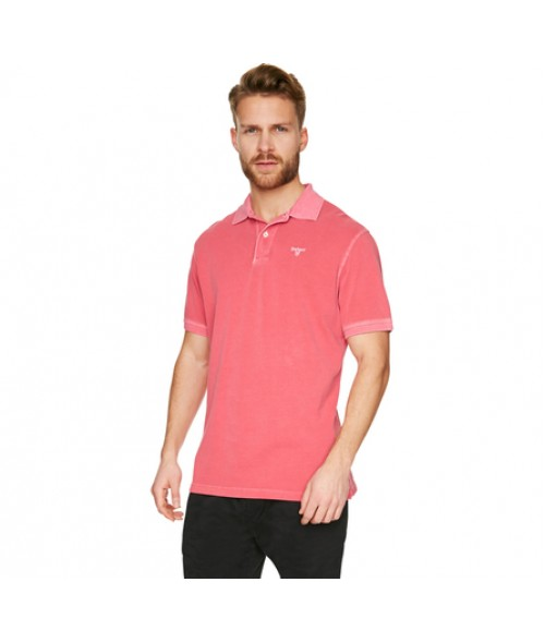Fuchsia Washed Sports Polo Shirt