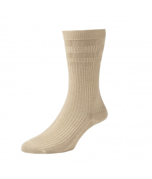 Oatmeal HJ Hall Softop- Cotton Rich Socks