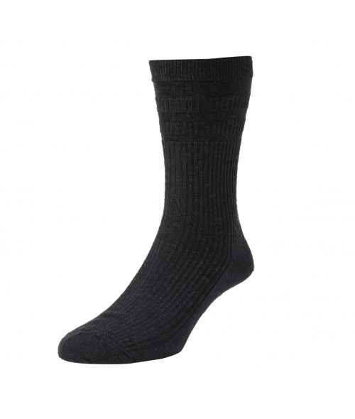 Black HJ Hall Softop- Wool Rich Socks