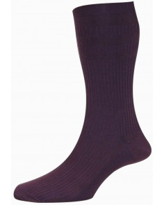 Damson Softop Cotton Rich Socks