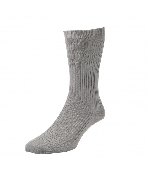 Mid Grey Softop Cotton Rich Socks