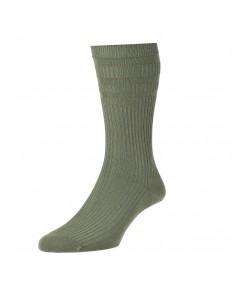 Olive Softop Cotton Rich Socks
