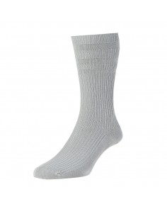 Silver Grey Softop Cotton Rich Socks