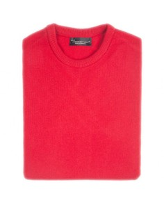 Hawick Crew Neck Pullover- Dubonnet Red