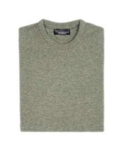 Hawick Crew Neck Pullover-Landscape Green