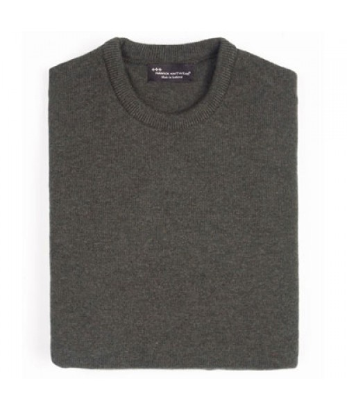 Hawick Crew Neck Pullover- Seaweed Green