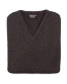 Hawick V Neck Pullover- Seaweed Green