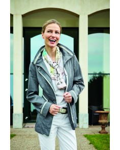 Pewter and Taupe 2-Tone Lightweight Coat