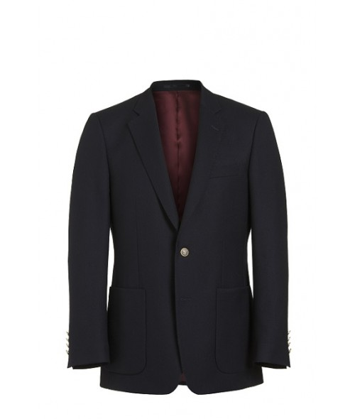 Magee Single Breasted Blazer - Navy
