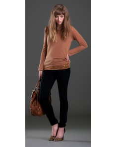 Cognac 2 Layer Sequin Jumper