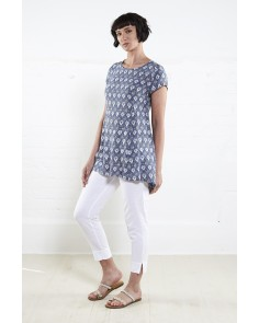 Filigree Drop Side Tunic- Denim