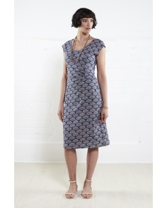 Ruched Side Dress- Denim