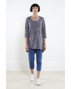 Printed Swing Tunic- Denim
