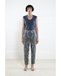 Amber Print Peg Trousers- Atlantic