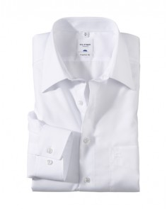 OLYMP Tendenz Regular Fit Shirt - White
