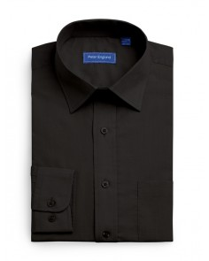 Peter England Plain Non Iron Shirt-  Black
