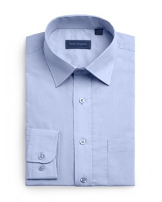 Peter England Plain Non Iron Shirt- Cobalt Blue