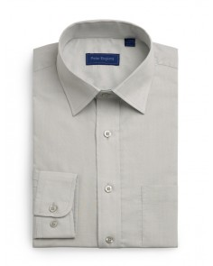 Peter England Plain Non Iron Shirt- Silver