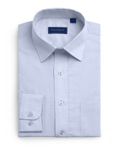 Peter England Plain Non Iron Shirt- Light Blue