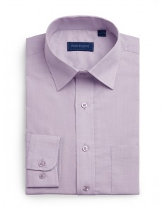Peter England Plain Non Iron Shirt- Lavender