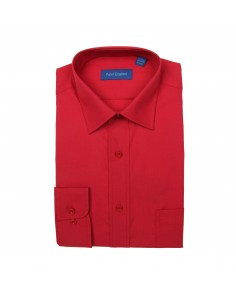 Peter England Plain Non Iron Shirt- Red