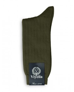 Viyella Short Wool Rich Rib Socks Lovat