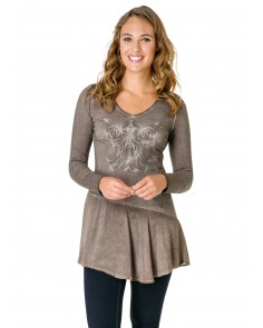 Ogress Taupe Tunic Top