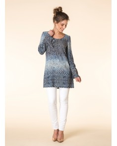 Ombre Diamond Print Tunic