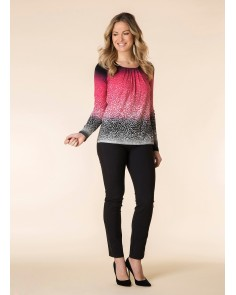 Ombre Animal Print Top