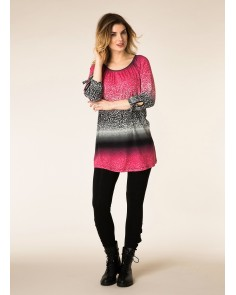 Ombre Animal Print Tunic