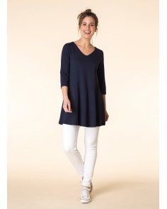 Deep Blue A-Line Tunic